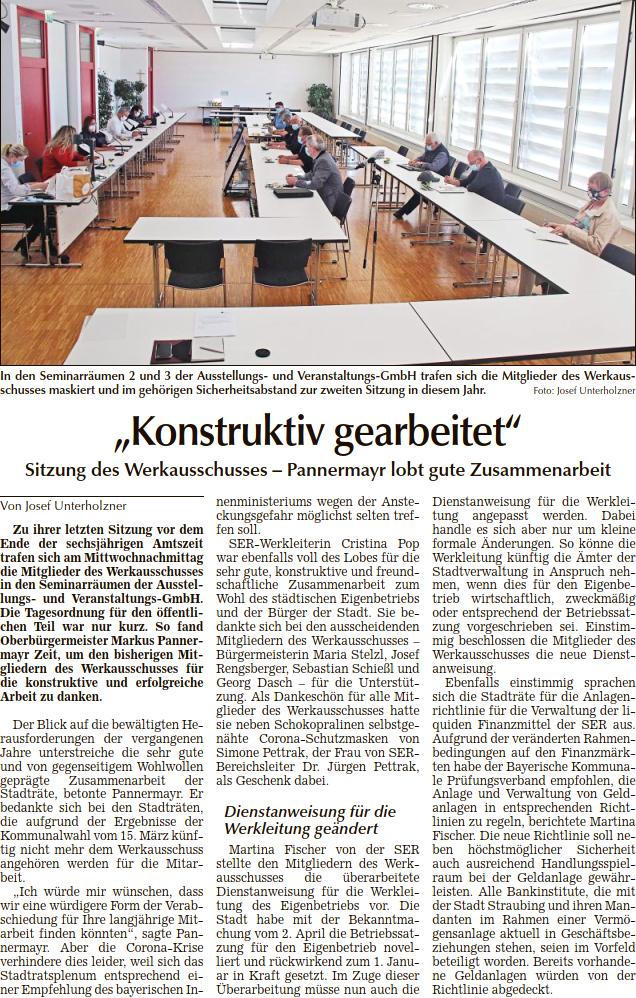Berichterstattung Tagblatt_2. Werkausschuss